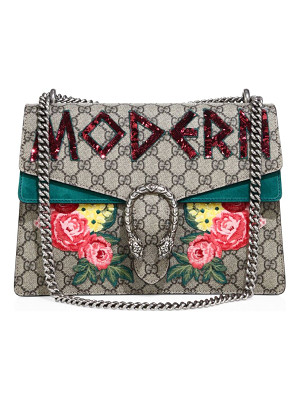 GUCCI Dionysus Modern-Embroidered Gg Supreme Chain Shoulder Bag
