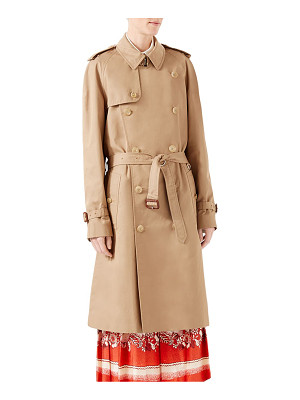 Gucci gabardine embroidered trench coat
