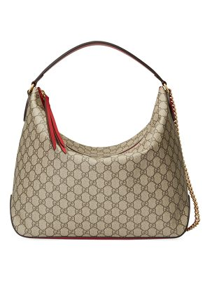GUCCI Linea Large Gg Supreme Canvas Hobo Bag