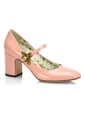 GUCCI Lois Patent Leather Mary Jane Pumps