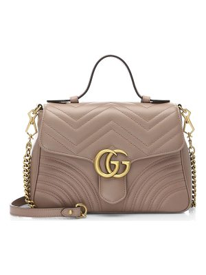GUCCI Marmont Leather Top Handle Bag