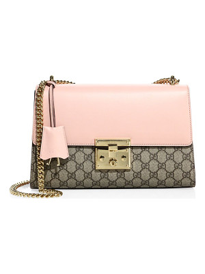 GUCCI Medium Padlock Gg Supreme Leather Shoulder Bag