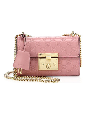 GUCCI Padlock Gg Small Leather Shoulder Bag