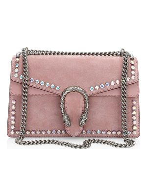GUCCI Small Dionysus Crystal-Embellished Suede Chain Shoulder Bag