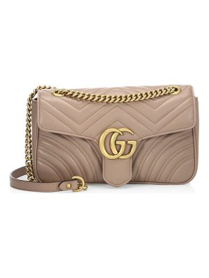GUCCI Small Gg Marmont Matelasse Leather Chain Shoulder Bag
