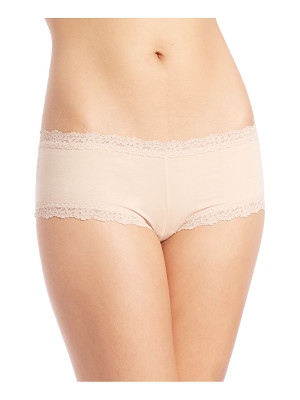 Hanky Panky lace-trim organic cotton boyshorts