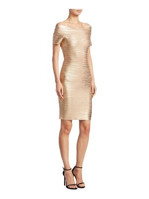 HERVE LEGER Carmen Foil Dress