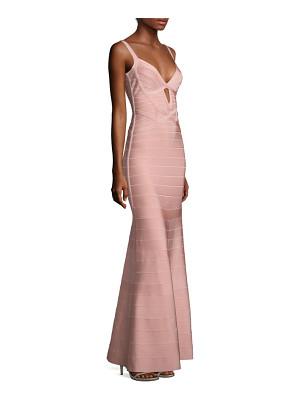 Herve Leger sleeveless v-neck gown