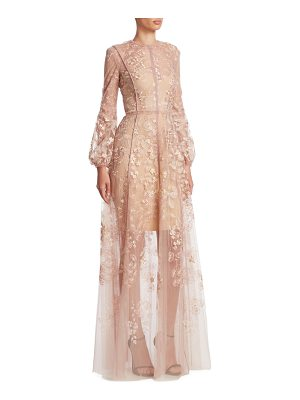 J. MENDEL Floral Embroidered Gown