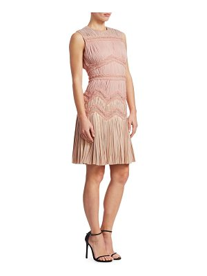 J. Mendel sleeveless multi-pleated sheath dress