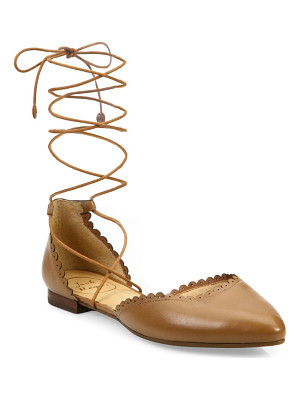 Jack Rogers camille leather lace-up flats