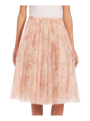 JENNY YOO Lucy Printed Tulle Midi Skirt