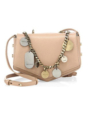 JIMMY CHOO Arrow Embellished Chain & Leather Crossbody Bag