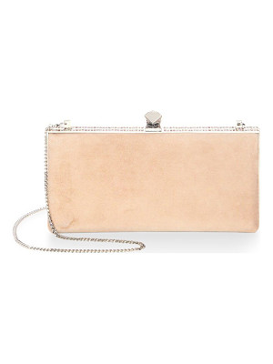 JIMMY CHOO Celeste Crystal & Suede Clutch