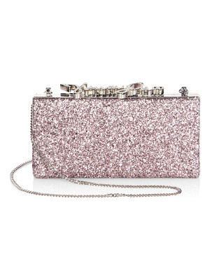 Jimmy Choo celeste metallic coarse glitter clutch