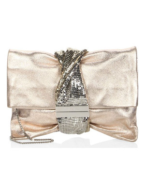 Jimmy Choo chandra metallic ballet clutch