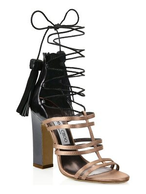 Jimmy Choo diamond tassel lace-up sandals