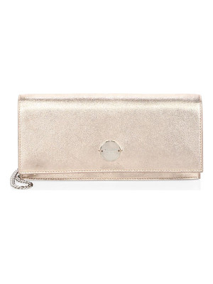 Jimmy Choo fie metallic leather chain clutch