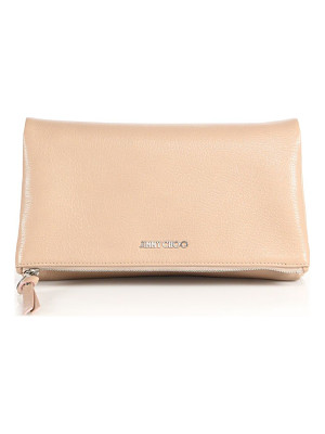JIMMY CHOO Nyla Leather Fold-Over Clutch
