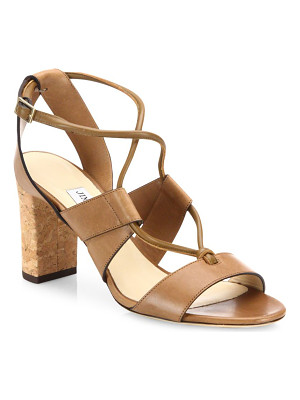 Jimmy Choo margo 80 cork-heel leather lace-up sandals