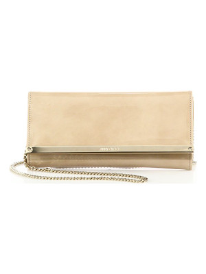 Jimmy Choo milla patent leather & suede clutch