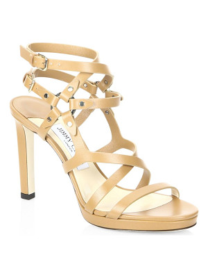 Jimmy Choo monica 100 cwz leather sandals