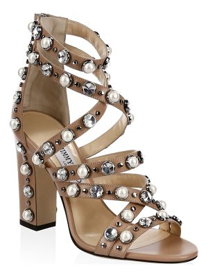 JIMMY CHOO Moore Beaded Sandals