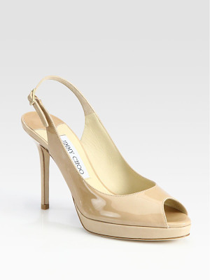 Jimmy Choo nova 100 patent leather slingbacks