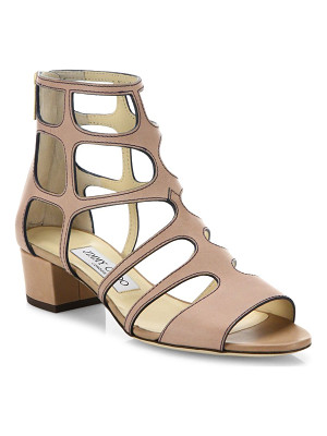 Jimmy Choo ren caged leather block heel sandals