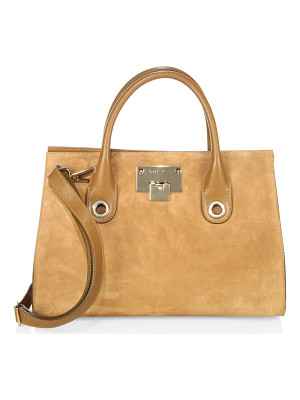 JIMMY CHOO Riley Suede & Leather Tote