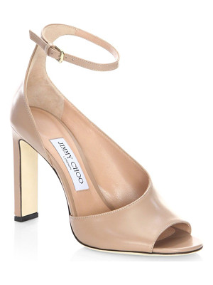 JIMMY CHOO Theresa 100 Leather Ankle-Strap Sandals