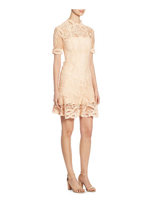 JONATHAN SIMKHAI Truss Applique Mini Flare Dress