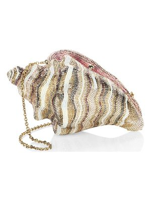 Judith Leiber Couture conch shell crystal clutch