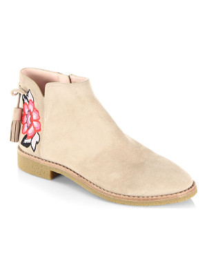 Kate Spade New York embroidered suede boots