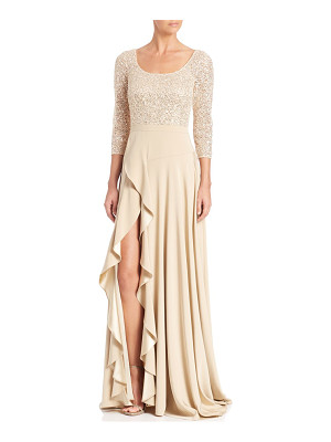 KAY UNGER Sequined Lace Gown