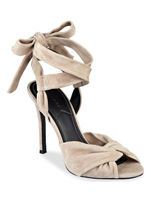 KENDALL + KYLIE Delilah Bow Suede Ankle Tie Sandals