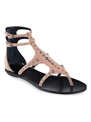 KENDALL + KYLIE fayth studded suede ankle strap sandals