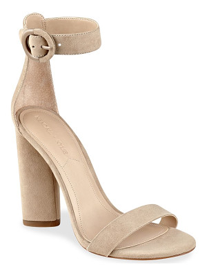 KENDALL + KYLIE Giselle High-Heel Suede Ankle Strap Sandals