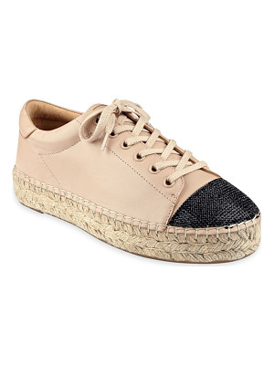 KENDALL + KYLIE joslyn leather cap toe espadrille sneakers