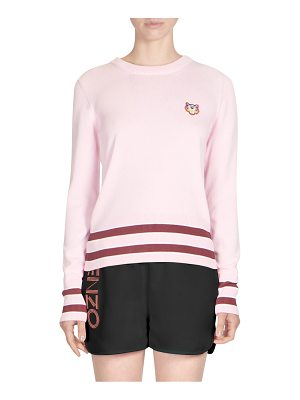 KENZO striped trim sweater