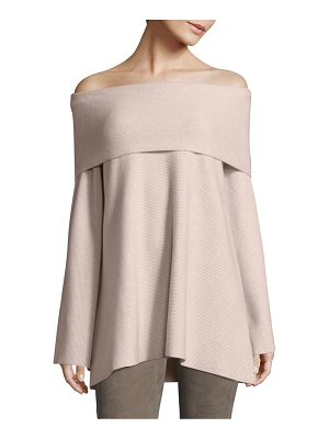 LAFAYETTE 148 NEW YORK Off-The-Shoulder Cashmere Sweater