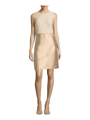 LAFAYETTE 148 NEW YORK Paolo Mixed Media Dress