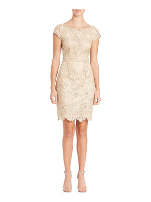 Laundry by Shelli Segal cutout lace cocktail dress