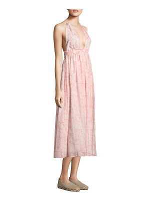 LOVESHACKFANCY Isabel Long A-Line Silk Dress