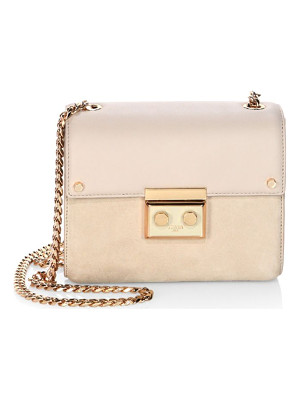 LUANA ITALY Marella Mini Leather & Suede Chain Shoulder Bag