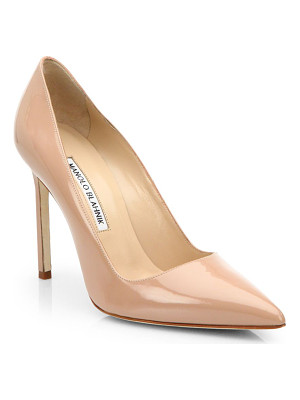 Manolo Blahnik bb 105 patent leather point toe pumps