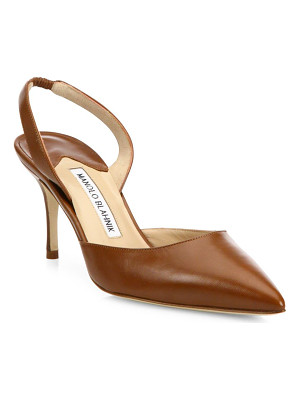 MANOLO BLAHNIK Carolyne Leather Slingbacks