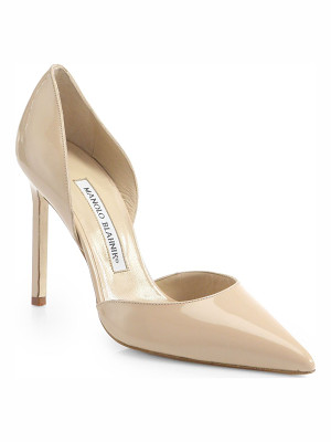 Manolo Blahnik tayler 105 patent leather d'orsay pumps