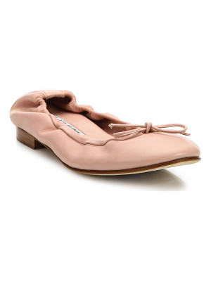 Manolo Blahnik tobaly leather ballet flats