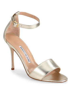Manolo Blahnik tressa 105 metallic leather ankle-strap sandals